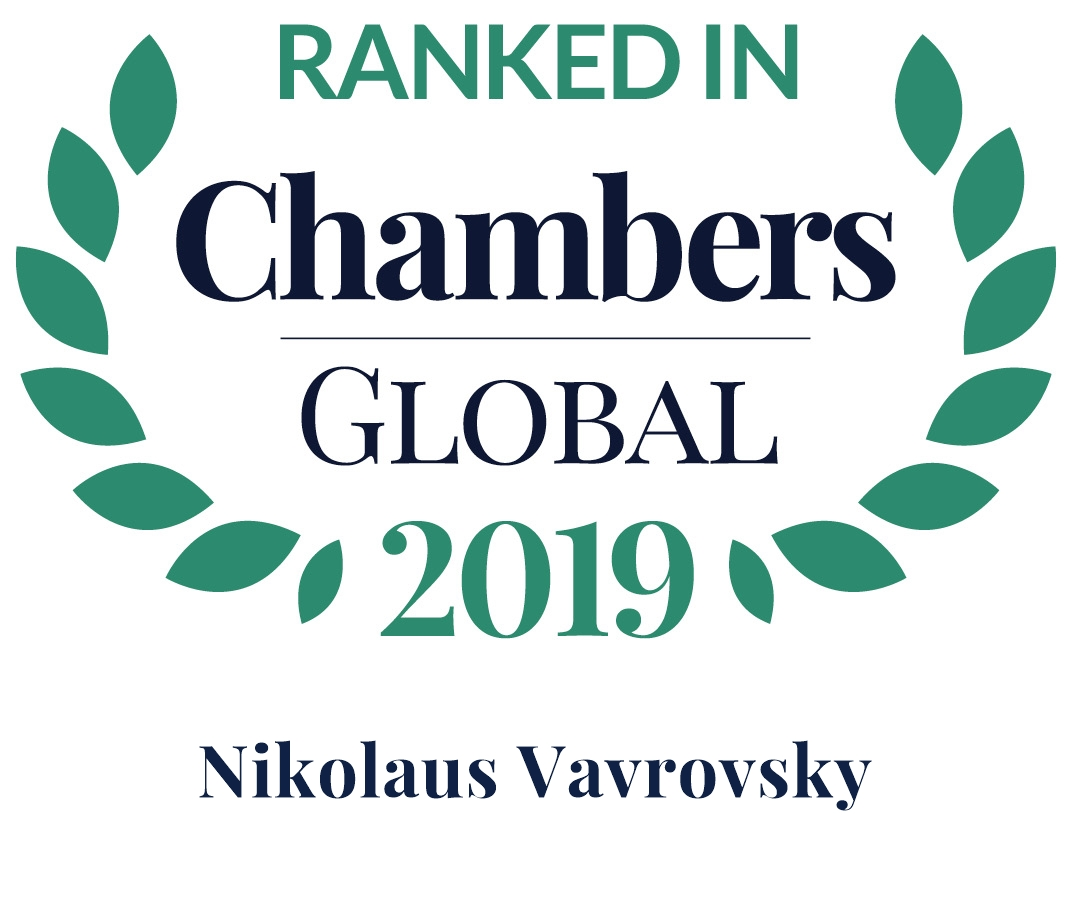 Chambers Global 2019: Nikolaus Vavrovsky is Leading Individual Dispute Resolution: Arbitration
