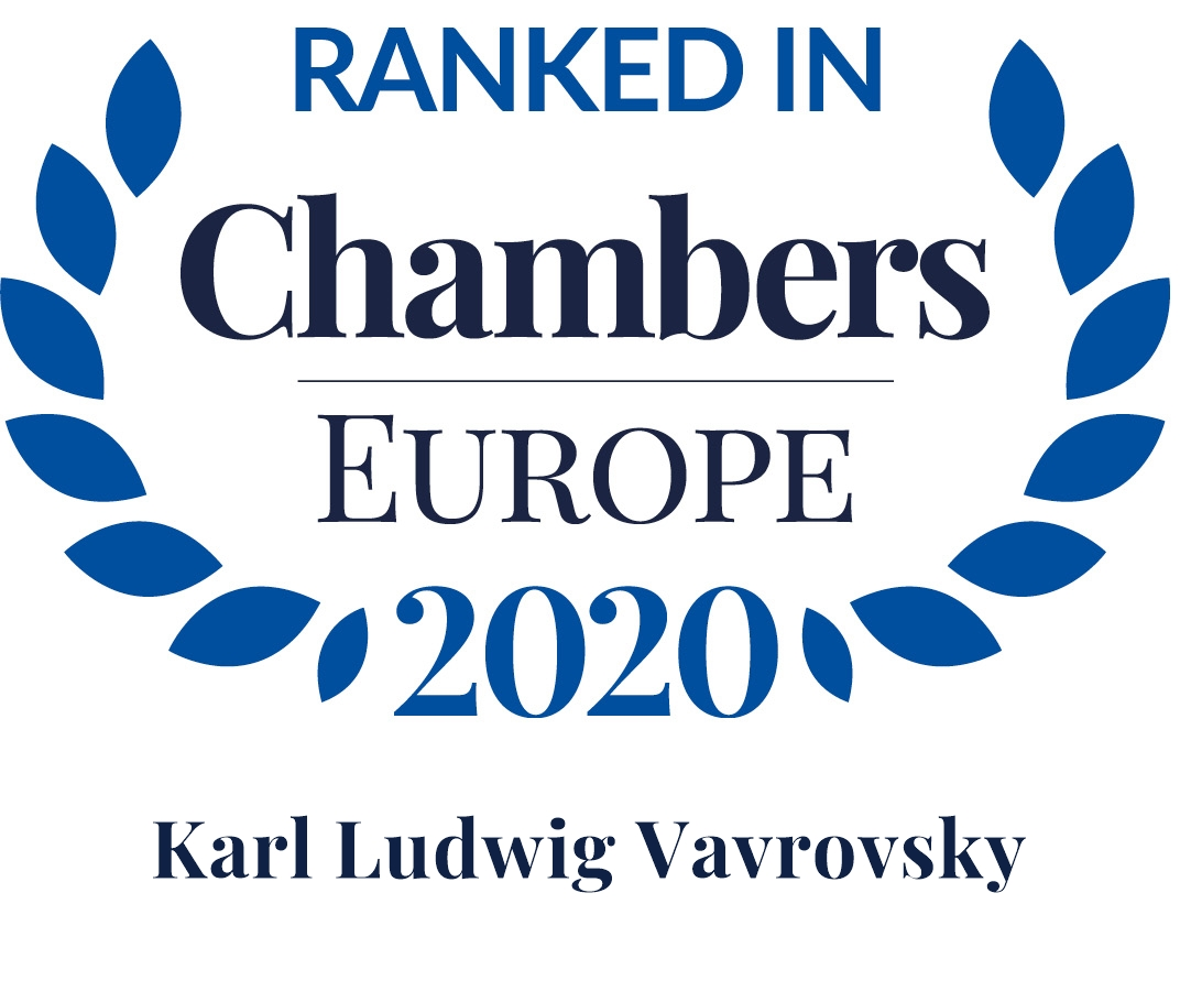 Chambers Europe 2020: Karl Ludwig Vavrovsky is Leading Individual in Restructuring/Insolvency: Administration
