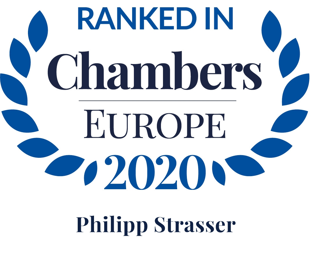 Chambers Europe 2020: Philipp Strasser ist Leading Individual in Dispute Resolution: Litigation
