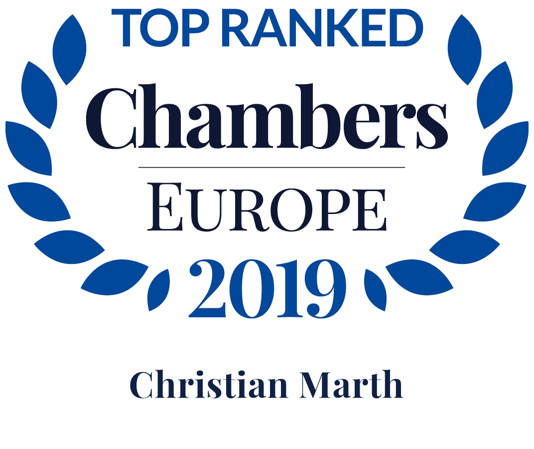Chambers Europe 2019: Christian Marth is Leading Individual in Real Estate