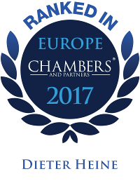 Dieter Heine is ranked Band 4 in Dispute Resolution by Chambers Europe 2017