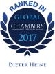 Personal ranking for Dieter Heine in Chambers Global 2017