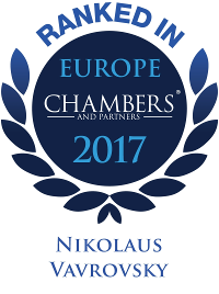 Nikolaus Vavrovsky is ranked Band 4 in Real Estate and Dispute Resolution by Chambers Europe 2017