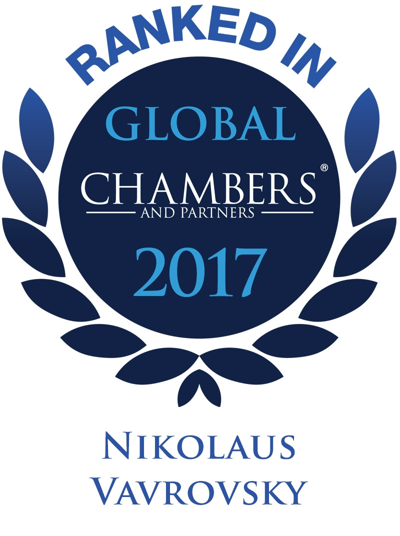 Personal ranking for Nikolaus Vavrovsky in Chambers Global 2017