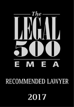 The Legal 500 EMEA ranks Dieter Heine as Recommended Lawyer