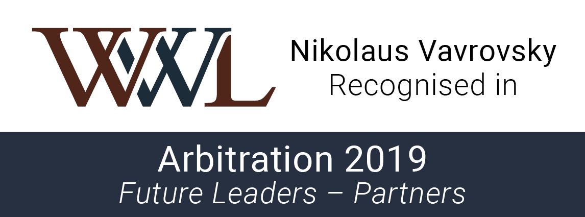 Who's Who Legal: Future Leaders Arbitration 2019 - Nikolaus Vavrovsky